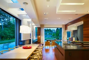 Modern Great Room with High-arc kitchen faucet, Silestone