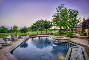 Traditional Swimming Pool with Pool with hot tub