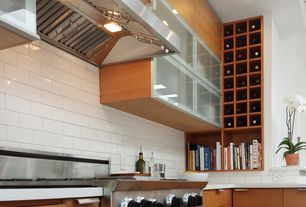 Contemporary Kitchen with L-shaped, Glass panel, Dekton-Ultra-Compact Surface Countertop in Zenith, Corian counters, Flush