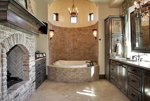 "Traditional Master Bathroom with Wall sconce, Undermount sink, Master bathroom, 71.5"" Huntshire Double Sink Vanity, Flush"