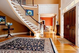 "Traditional Entryway with Casa de color 3/4"" x 4"" golden hickory millrun hardwood flooring, Transom window, Loft"