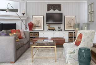 Contemporary Living Room with Carpet, Taylor 2 Tier Rectangle Coffee Table, Room and board ian sofa, Crown molding