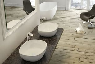 Contemporary Master Bathroom with Duchateau Chateau Floors - The Heritage Collection Timber Edition in Chalk (European Oak)