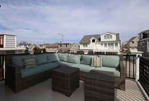 Contemporary Deck with exterior tile floors