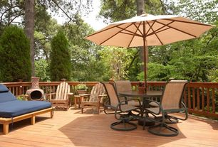 Traditional Deck with Deck Railing, outdoor pizza oven
