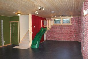 Basement with Swing n slide alpine wave slide, Indoor playground
