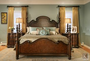 Contemporary Master Bedroom with Paint, Area rug, Nightstand, Fabric curtain, Gabrielle solid wood and veneer bed, Paint 2