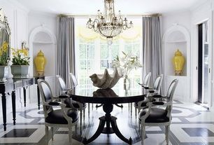 Traditional Dining Room with Crown molding, Progress lighting - palais 9 light candle chandelier, Hardwood floors, Chandelier