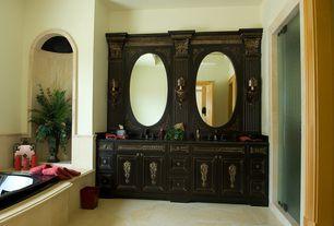 Traditional Master Bathroom with MS International Ramon Gold Limestone