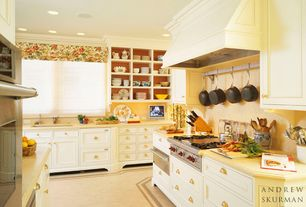 Traditional Kitchen with Raised panel, Dura Supreme Cabinetry Chapel Hill Panel, Undermount sink, Inset cabinets, Limestone