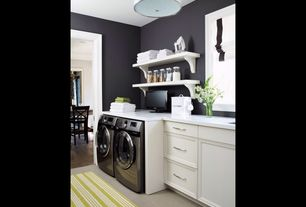 Contemporary Laundry Room with Electrolux 4.3 cu. ft. front-load washer w/ perfect steam & 8.0 cu. ft. dryer bundle, Paint