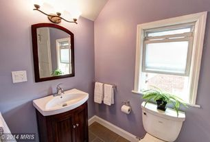 Traditional Powder Room with High ceiling, Powder room, Undermount sink, Flat panel cabinets, Flush