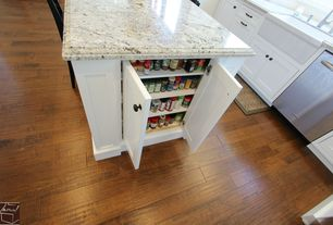 Traditional Pantry with Armstrong Flooring Hickory in Clover Honey, Oregon Tile & Marble Granite in Arctic White