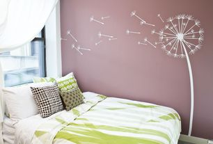 Contemporary Guest Bedroom with Coolgraphiccs Dandelion Wall Decal, Mural, Carpet, Wall decal