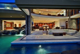 Contemporary Great Room with West maui, hawaii, Indoor/outdoor living, Jewel of kahana, Outdoor living room, French doors