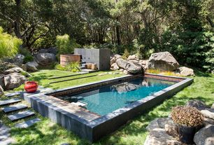 Eclectic Swimming Pool with Pathway, Other Pool Type, exterior stone floors