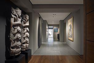 "Contemporary Hallway with Major brand  1/2"" x 3-5/8"" carbonized strand bamboo, Laminate floors, sandstone floors"