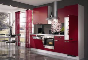 Contemporary Kitchen with Ikea - melltorp dining table, Ceramic Tile, Kartell - fpe stacking chair, One-wall, Breakfast nook