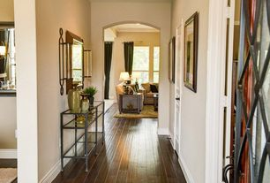 Contemporary Hallway with Hardwood floors