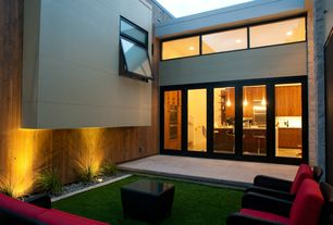 Contemporary Landscape/Yard with specialty window, French doors