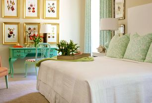 Traditional Master Bedroom with Carpet, Art desk, bedroom reading light, Standard height