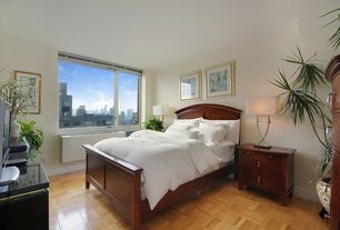 Contemporary Master Bedroom with Hudson Bed & Headboard, Laminate floors, Hudson 4-Drawer Bedside Table