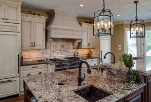 "Traditional Kitchen with Granite countertop, Wolf 48"" Gas Range 4 Burners Infrared Dual Griddle"