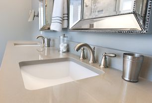 Contemporary Master Bathroom with Paint, 4 in. UltraCompact Surface Countertop in Danae