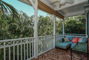 Traditional Porch with Wrap around porch, exterior brick floors