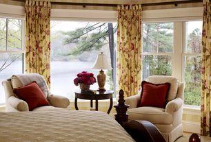 Traditional Master Bedroom with Hardwood floors, Casement, Standard height