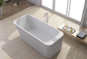 Contemporary Master Bathroom with Solo - 1800 Rectangular Lucite Acrylic Bath, Freestanding, Master bathroom, Bamboo floors