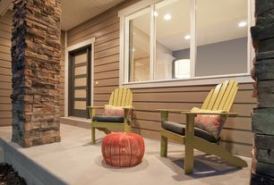 Contemporary Porch with Coral coast - belwood acacia adirondack chair - sage green, Adirondack chair, Paint, Exterior brick