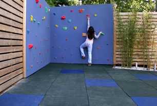 Contemporary Playroom with Concrete tile , Bamboo, Atomik kids climbing holds wall pack bolt ons, Rubberdeck sports flooring