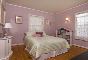 Traditional Kids Bedroom with Hardwood floors, Wall sconce