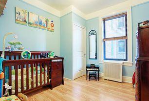 Traditional Kids Bedroom with specialty door, no bedroom feature, Standard height, Crown molding, double-hung window