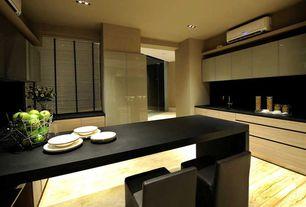 Contemporary Kitchen with Breakfast bar, Soapstone, Flush, Undermount sink, sandstone floors, Soapstone counters, U-shaped
