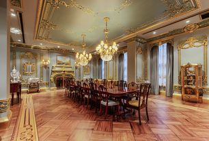 Traditional Dining Room with Bronze Finish Antique Luxurious Crystal Chandelier Lamp / Light / Lighting Fixture 8 lights