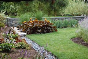 Traditional Landscape/Yard with Pathway, Raised beds