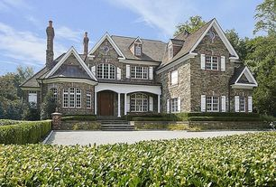 Traditional Exterior of Home with Stone exterior