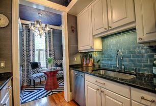 Eclectic Kitchen with Solistone mardi gras erato glass mosaic subway indoor/outdoor wall tile, Granite agata polished