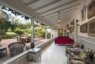Traditional Porch with French doors, Wrap around porch