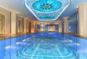 Traditional Swimming Pool with Indoor pool, exterior stone floors