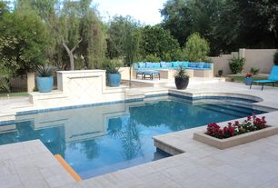 Contemporary Swimming Pool with Other Pool Type, Fence, Pathway, exterior tile floors, exterior concrete tile floors