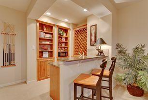 Craftsman Bar with Carpet, Built-in bookshelf