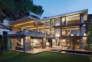 Contemporary Exterior of Home with Horizontal syle, Precast concrete, Open to the exterior