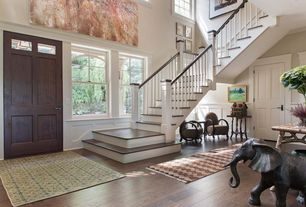 Traditional Entryway with double-hung window, Northern red oak - cocoa bean 3 in. engineered hardwood plank, Paint