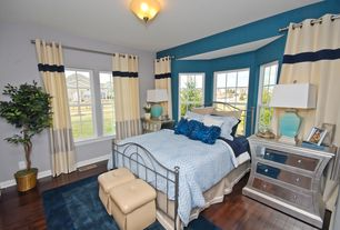 Master Bedroom with flush light, Hardwood floors, double-hung window, Standard height, Bay window