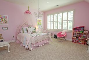 Traditional Kids Bedroom with Chandelier, Carpet