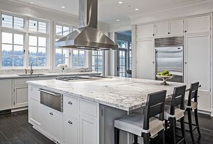 Traditional Kitchen with Ms international calacatta vagli marble, Summit professional 36 inch island hood - stainless steel