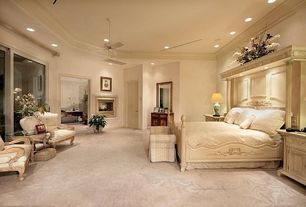 Traditional Guest Bedroom with Carpet